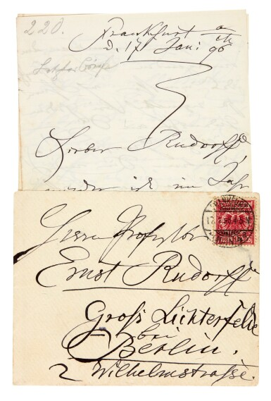 View 4. Thumbnail of Lot 35. Clara Schumann. 215 unpublished letters to the composer and environmentalist Ernst Rudorff, with his replies, 1858-1896.