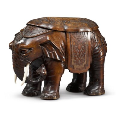 View 3. Thumbnail of Lot 26. Gustave Keller, 1881-1922 | Elephant-form Bidet.