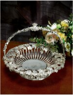 A GEORGE IV SILVER BASKET FROM THE DUCHESS OF ST. ALBANS SERVICE, JOHN BRIDGE FOR RUNDELL, BRIDGE AND RUNDELL, LONDON, 1827