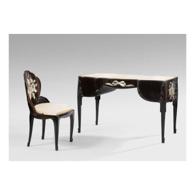 View 1. Thumbnail of Lot 43.  LOUIS SÜE AND ANDRÉ MARE   LADY'S DESK AND CHAIR.
