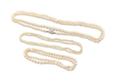 View 1. Thumbnail of Lot 30. COLLECTION OF NATURAL AND CULTURED PEARL NECKLACES   (COLLEZIONE DI COLLANE IN PERLE NATURALI E COLTIVATE).