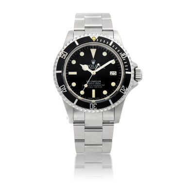 ROLEX | 'GREAT WHITE' SEA-DWELLER, REF 1665, STAINLESS STEEL WRISTWATCH WITH HELIUM ESCAPE VALVE, DATE AND BRACELET CIRCA 1983