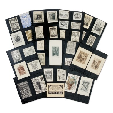 View 1. Thumbnail of Lot 27. AN IMPORTANT COLLECTION OF JUDAICA BOOKPLATES, [EUROPE, LAND OF ISRAEL, AND NORTH AMERICA: LATE 19TH-20TH CENTURIES].