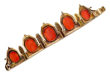 View 3. Thumbnail of Lot 9001. Yellow Gold and Coral Diadem, 1845 | 黃金 配 珊瑚 皇冠, 1845年.