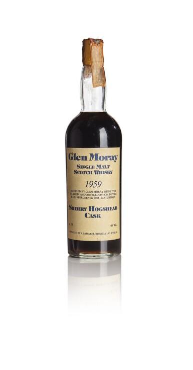 GLEN MORAY SHERRY HOGSHEAD CASK SAMAROLI 25 YEAR OLD 46.0 ABV 1959