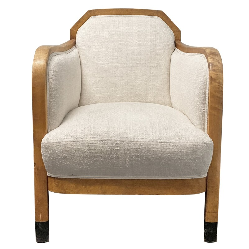 Art Deco Upholstered Club Chairs