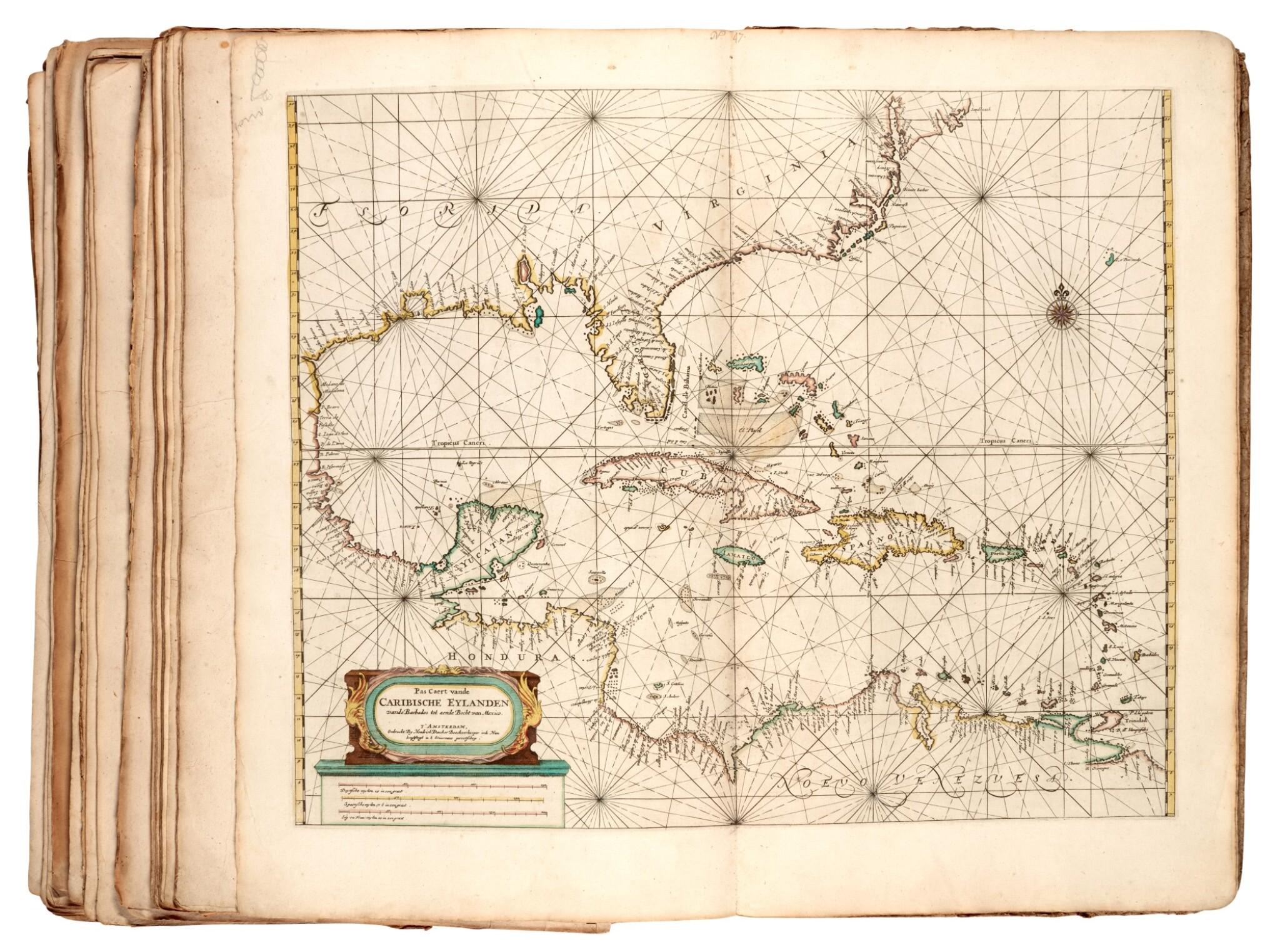 View full screen - View 1 of Lot 55. DONCKER | Zee atlas, 1672.