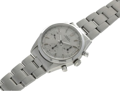 View 6. Thumbnail of Lot 2. ROLEX | REFERENCE 6238 'PRE-DAYTONA'  A STAINLESS STEEL CHRONOGRAPH WRISTWATCH WITH BRACELET, CIRCA 1964.