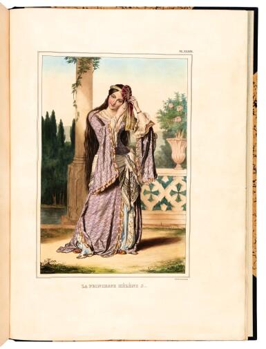 View 2. Thumbnail of Lot 47. Dupre. Voyage a Athenes et a Constantinople. Paris, 1825. folio, colour plates, twentieth-century blue half morocco gilt.