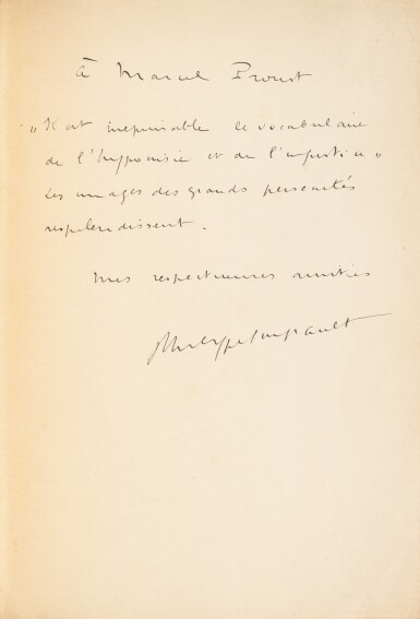 View 1. Thumbnail of Lot 177. Westwego. Poèmes. 1922. Rel. Jean de Gonet. Exemplaire de Marcel PROUST, avec envoi.