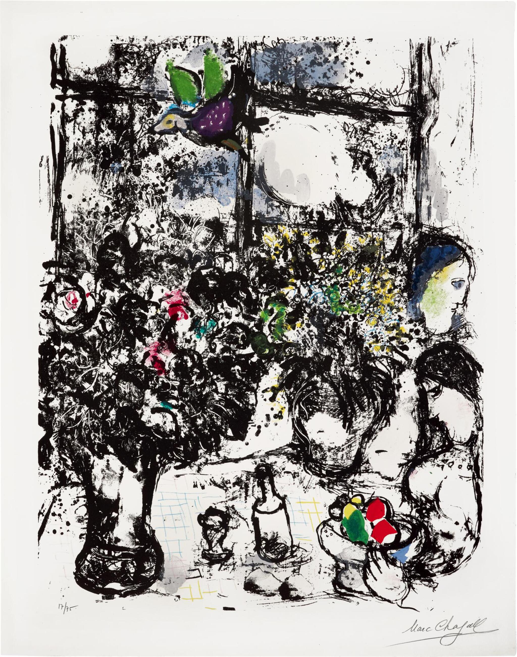 View full screen - View 1 of Lot 3. MARC CHAGALL | NATURE MORTE AU BOUQUET (M. 299).