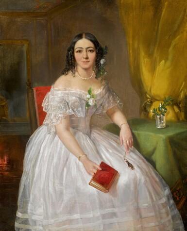 PIMEN NIKITICH ORLOV |Portrait of Sofia Nikolaevna Karamzina
