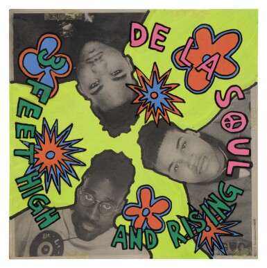 GREY ORGANISATION / TOBY MOTT DE LA SOUL / 3 FEET HIGH AND RISING ALBUM COVER STUDY, 1988