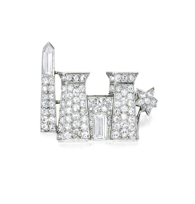 View 1. Thumbnail of Lot 12. CARTIER | DIAMOND BROOCH.