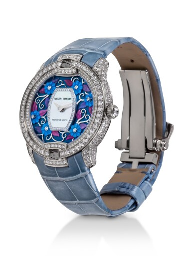 ROGER DUBUIS | VELVET, REF 86770 UNIQUE WHITE GOLD AND DIAMOND-SET WRISTWATCH WITH MOTHER-OF-PEARL DIAL CIRCA 2016