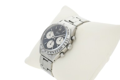 View 7. Thumbnail of Lot 1. ROLEX | REFERENCE 6239 'DOUBLE SWISS UNDERLINE' DAYTONA   A STAINLESS STEEL CHRONOGRAPH WRISTWATCH WITH REGISTERS, CIRCA 1963.