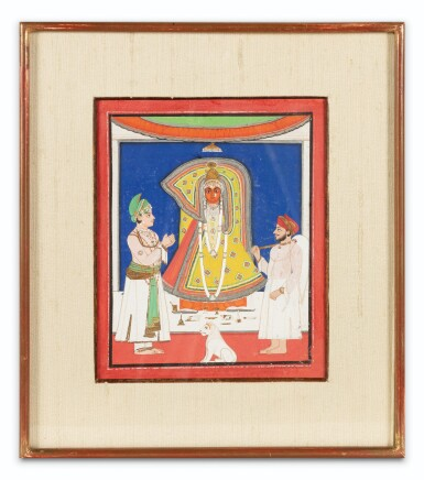 View 12. Thumbnail of Lot 35. RAJASTHAN, 19TH CENTURY | SEVEN INDIAN MINIATURES.