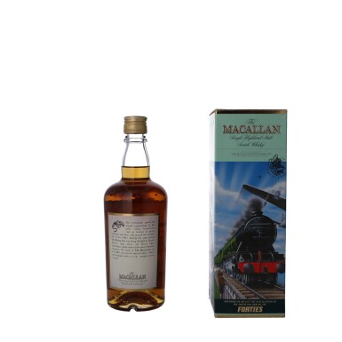 """View 2. Thumbnail of Lot 55. The Macallan Travel Decades Series """"Forties"""" 40.0 abv NV (1 BT50)."""