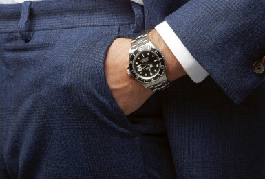 View 4. Thumbnail of Lot 15. ROLEX | SUBMARINER REF 16610, A STAINLESS STEEL AUTOMATIC CENTER SECONDS WRISTWATCH WITH BRACELET CIRCA 1994.