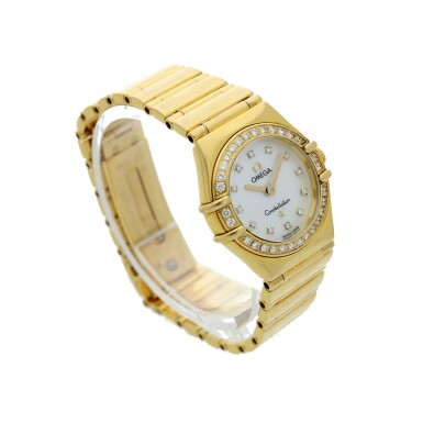 View 3. Thumbnail of Lot 28. Reference 895 1243 Constellation  A yellow gold and diamond-set bracelet watch with mother-of-pearl dial, Circa 1998 .