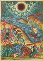 DMITRI SEMENOVICH STELLETSKY | L'ARMÉE AU BORD DE LA MER FROM THE TALE OF IGOR'S CAMPAIGN