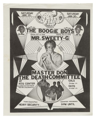 View 4. Thumbnail of Lot 17. [FAB 5 FREDDY; BUDDY ESQUIRE; VAN SILK; STRAIGHTMAN; ET AL.]   COLLECTION OF 23 EARLY HIP HOP FLIERS, 1979-1985..