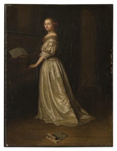 AFTER CASPAR NETSCHER | A LADY WITH A SPINET