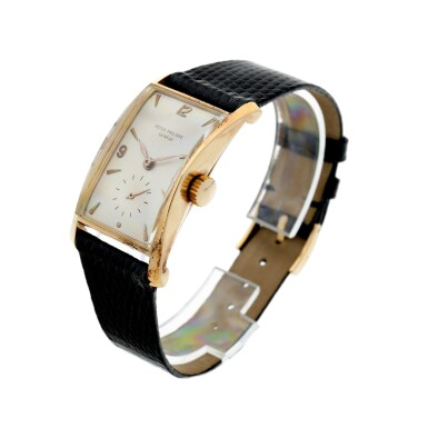 View 2. Thumbnail of Lot 147. REFERENCE 1593 A PINK GOLD WRISTWATCH, MADE IN 1953.