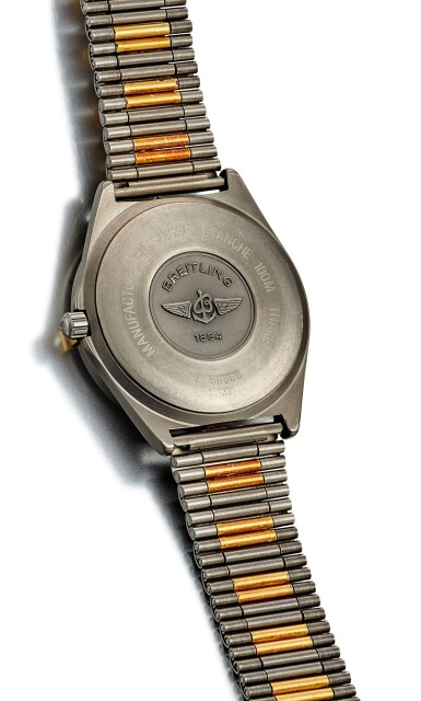 View 3. Thumbnail of Lot 8266. BREITLING | AEROSPACE, REFERENCE F 56060, A TITANIUM CALENDER CHRONOGRAPH WRISTWATCH WITH BRACELET, ALARM AND DUAL TIME ZONE, CIRCA 2002.