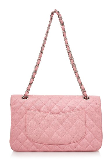 View 2. Thumbnail of Lot 144. ROSE PINK CAVIAR LEATHER AND SILVER-TONE METAL CLASSIC SHOULDER BAG, CHANEL.