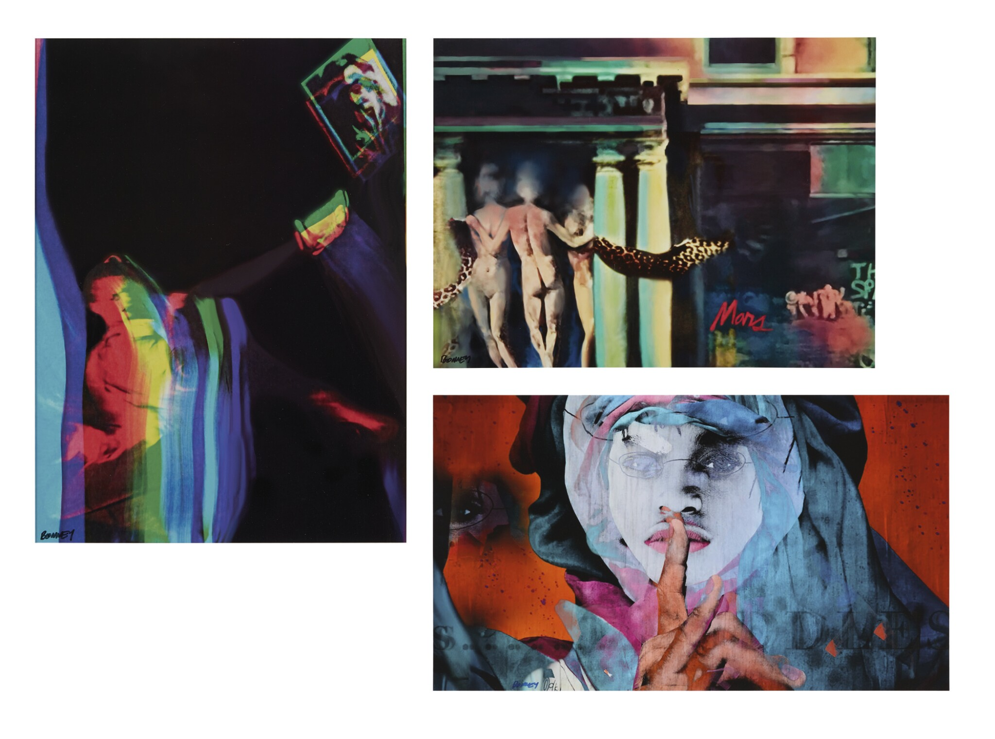 View full screen - View 1 of Lot 493. ANNEY BONNEY | I. AMELIE AND ANDY II. THREE EAST VILLAGE GRACES III. SILENCE [3 WORKS].