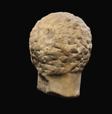 View 5. Thumbnail of Lot 22. A GREEK MARBLE HEAD OF A YOUTH, 3RD QUARTER OF 4TH CENTURY B.C..