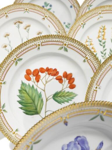 View 3. Thumbnail of Lot 89. A Set of Twelve Royal Copenhagen 'Flora Danica' Dinner Plates, Modern.