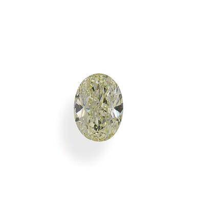 A 1.51 Carat Fancy Light Yellow Oval-Shaped Diamond, VS2 Clarity