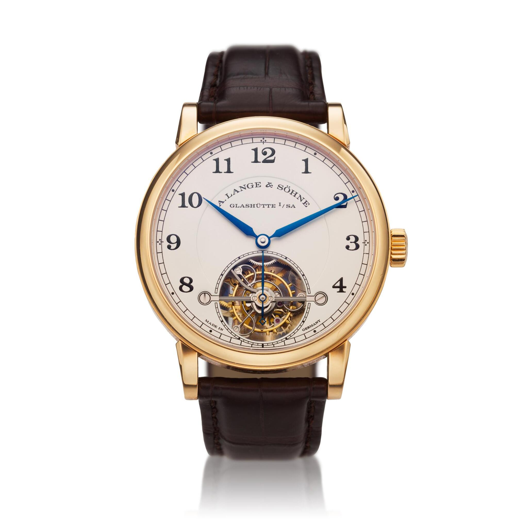 View full screen - View 1 of Lot 296. Reference 730.032F 1815 Tourbillon   A pink gold tourbillon wristwatch with zero-reset mechanism, Circa 2016 .