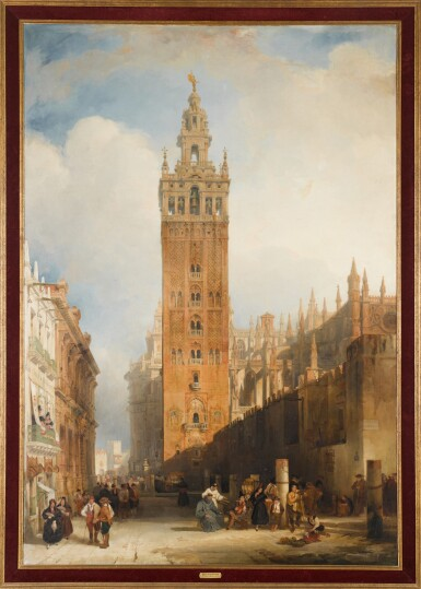 View 2. Thumbnail of Lot 159. DAVID ROBERTS, R.A. |  THE MOORISH TOWER AT SEVILLE, CALLED THE GIRALDA.