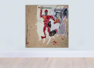 View 5. Thumbnail of Lot 1118. Jean-Michel Basquiat 尚・米榭・巴斯基亞   Untitled (Red Warrior) 無題(紅戰士)     .