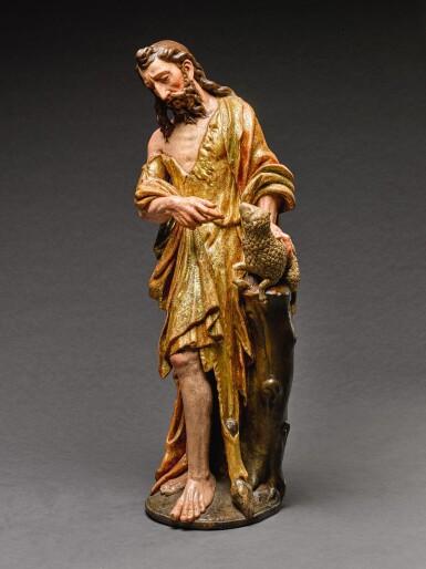 ATTRIBUTED TO ROQUE DE BALDUQUE (D. 1561), SPANISH, SEVILLE, MID-16TH CENTURY  SAINT JOHN THE BAPTIST