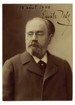ZOLA   photographic portrait signed, 1900