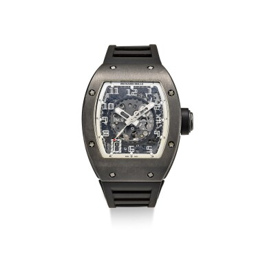 View 1. Thumbnail of Lot 354. RICHARD MILLE | RM010 A LIMITED EDITION DLC-COATED TITANIUM SEMI-SKELETONISED WRISTWATCH WITH DATE, MADE FOR THE PARIS BOUTIQUE, CIRCA 2010.