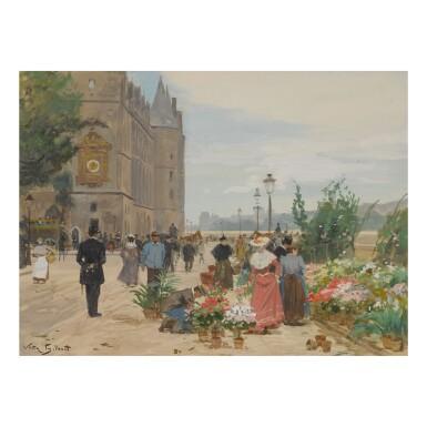 VICTOR GABRIEL GILBERT | FLOWER SELLER OUTSIDE THE CONCIERGERIE, PARIS