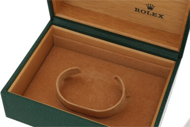 View 7. Thumbnail of Lot 428. 'The Texan' Quartz, Ref. 5100 BETA 21 Yellow gold wristwatch with date and bracelet Circa 1970 | 勞力士 5100 BETA 21型號「'The Texan' Quartz」黃金鍊帶腕錶備日期顯示,年份約1970.