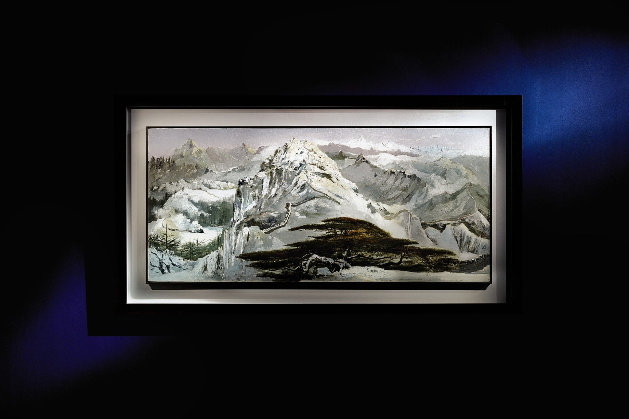 View full screen - View 1 of Lot 1013.  WU GUANZHONG 吳冠中 | SCENERY OF NORTHERN CHINA 北國風光.