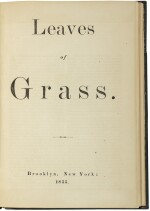 WHITMAN, WALT | Leaves of Grass. Brooklyn: [For the author by Andrew and James Rome,] 1855