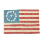 THIRTEEN-STAR AMERICAN NATIONAL PARADE FLAG, CIRCA 1876-98