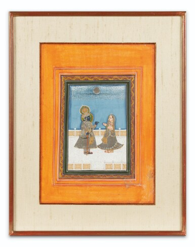 View 10. Thumbnail of Lot 37. RAJASTHAN, LATE 18TH CENTURY AND 19TH CENTURY | SIX INDIAN MINIATURES.