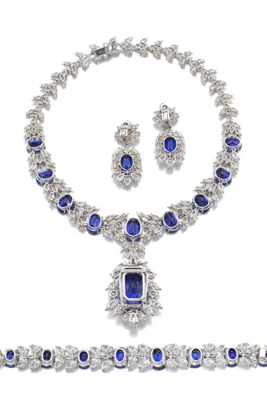 View 3. Thumbnail of Lot 168. Jahan   Important sapphire and diamond parure   Jahan   藍寶石配鑽石首飾套裝.