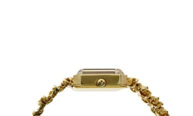View 4. Thumbnail of Lot 65. Reference 8272 De Ville Designed by Gilbert Albert: A yellow gold rectangular bracelet watch, Circa 1965.