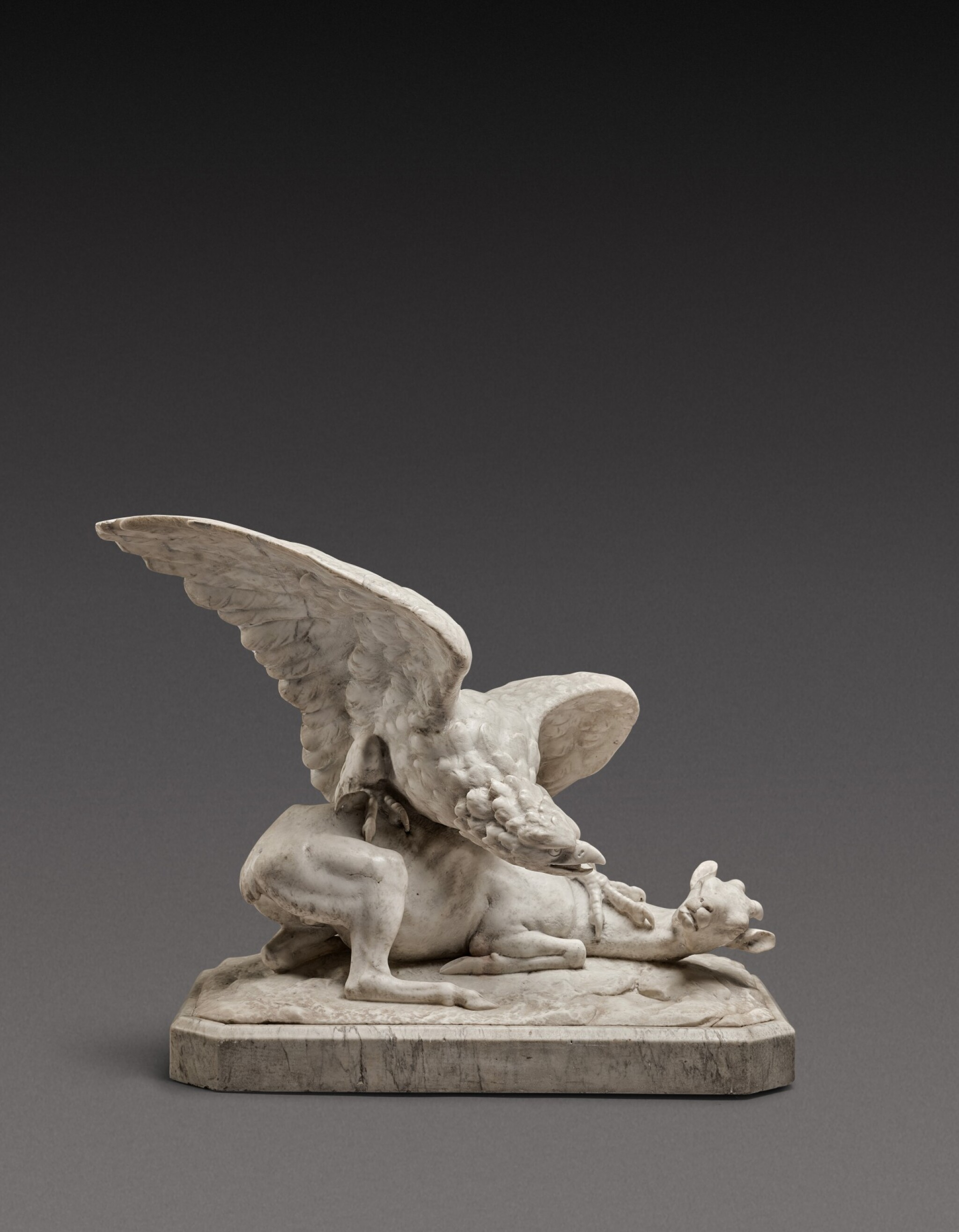 View 1 of Lot 131. Italian, probably Rome, first half 19th century | Eagle attacking a Goat.
