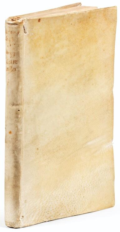 View 1. Thumbnail of Lot 107. RAGUENEAU. Relation de ce qui s'est passé en la Mission des Peres de la Compagnie de Iesus. 1650. Vélin de l'ép. 2e éd..